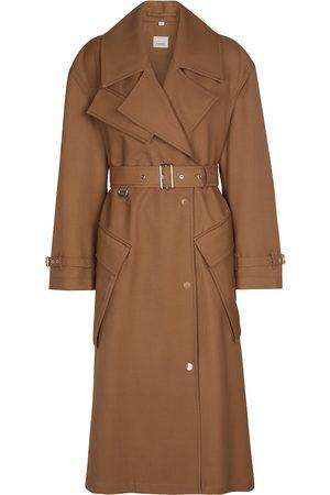 Burberry Mantel aus Wolle mit Gürtel