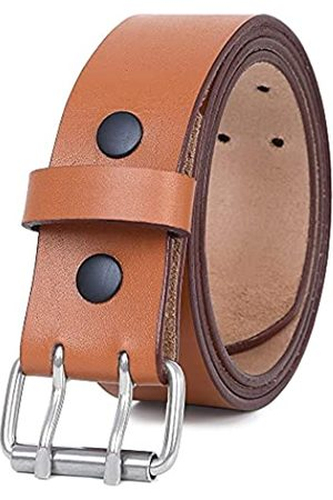 PBF Ledergürtel für Herren, strapazierfähig, 4,5 cm breit, doppelte Zinken