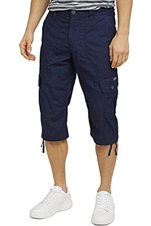 TOM TAILOR Herren 1026235 Max Overknee Cargo Bermuda Shorts, 10932-Sailor Blue