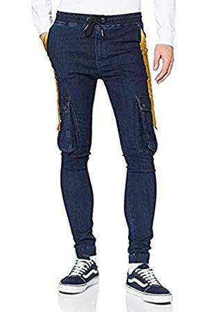 Gianni Kavanagh Herren Dark Blue Noble Signature Cargo Jeans