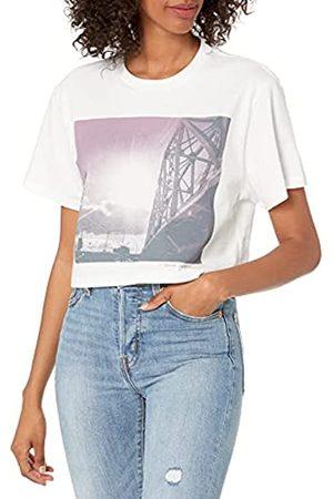 True Religion Damen Bella Bridge Short Sleeve Crop Tee T-Shirt