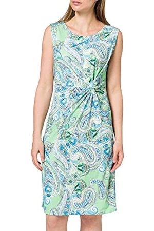 Blue Seven Damen Alloverdruck, Rundhals Kleid, 700 HL GRÜN Orig