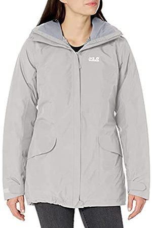 Jack Wolfskin Women's Kiruna Trail Waterproof Insulated Waterproof Rain Jacket, Grey Haze