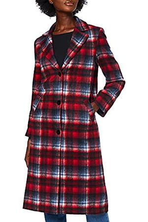 FIND Amazon-Marke: Damen Mantel Tartan City Coat, 34