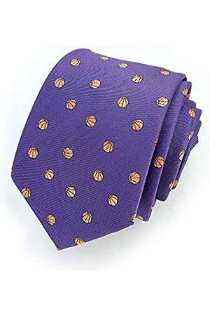 Basketball Apparel, Inc. Herren Basketball-Krawatte – Basketball-Krawatte – Lila Basketball – Lakers Krawatte - mehrfarbig - Regulär