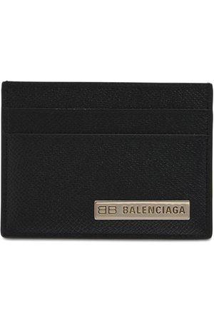 BALENCIAGA Kartenhülle Aus Leder Mit Logo Aus Metall