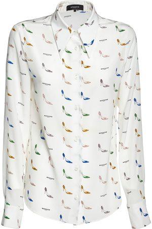 ROCHAS Bedruckte Bluse Aus Seidenem Crepe De Chine