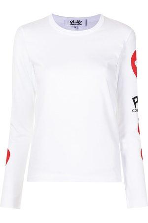Comme Des Garçons Play Heart-logo long-sleeve T-shirt