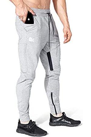 BROKIG Herren-Jogginghose aus Netzstoff mit Reißverschlusstasche - - Klein