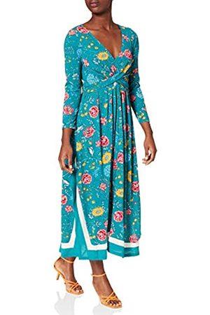 Springfield Damen Vestido Midi Picos Cenefa Kleid