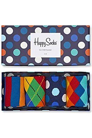 Happy Socks Gemischt farbenfrohe Geschenkbox an Baumwollsocken für Männer und Frauen,Mehrfarbig (Mix Gift Box)