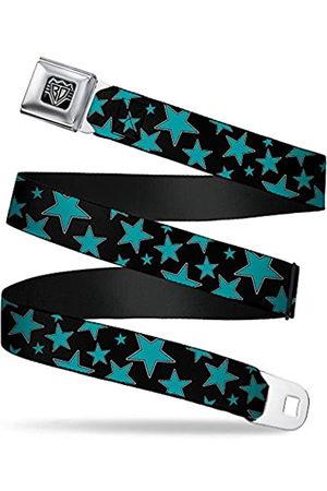 Buckle-Down Unisex-Adult's Seatbelt Belt Stars XL, Multi Black/Turquoise