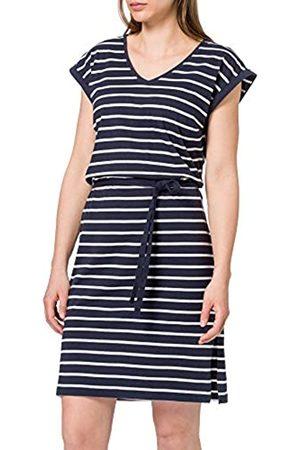 Blue Seven Damen Streifen, V-Ausschnitt Kleid