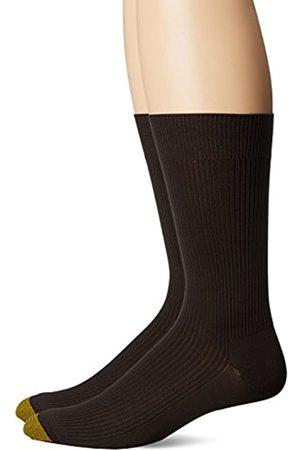 Gold Toe Herren Comfort Top Nylon Crew Socks, 2-Pairs Anzugsocken