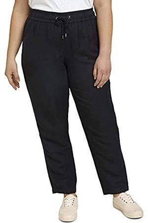 TOM TAILOR Damen 1027804 Plussize Loose Fit Hose, 14482-Deep Black