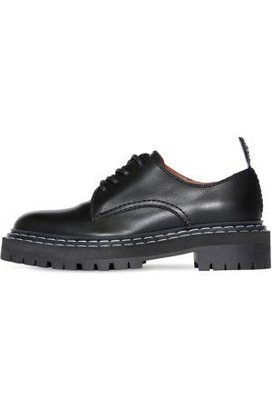 PROENZA SCHOULER 30mm Leather Lace-up Shoes