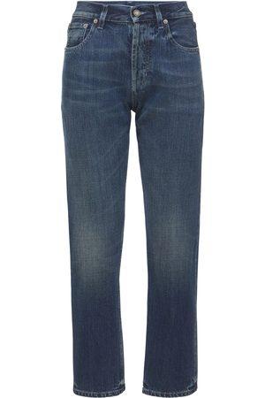 Saint Laurent Damen Straight - Jeans Aus Baumwolldenim Mit Geradem Bein