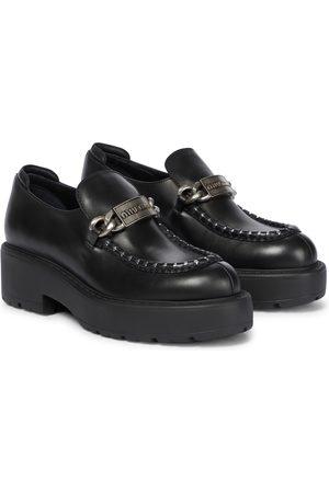 Miu Miu Damen Halbschuhe - Loafers aus Leder