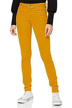 s.Oliver Damen Slim Fit: Hose aus Feincord yellow 46.32
