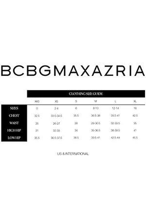 BCBG Max Azria Damen Enid V Neck Long Sleeve Knit Top Hemd