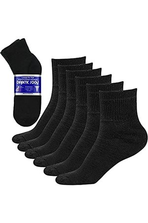 DEBRA WEITZNER 10-13 Diabetiker Socken/Knöchel schwarz 8-12