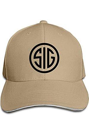CUICAN Sig Sauer Hat Sandwich Baseball Cap Sonnenhut verstellbar Outdoor Hiphop Erwachsene Unisex Kappen Hüte für Herren Damen - Braun - Einheitsgröße