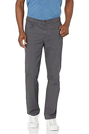 Goodthreads Amazon-Marke: Herrenhose, gerade Passform, 5-Pocket, mit komfortablem Stretch, Chino-Stil, Grey