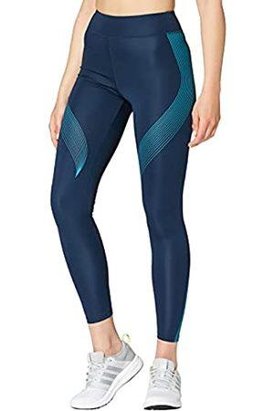 AURIQUE Amazon-Marke: Damen Sportleggings mit Print, (Dress Blue/Barrier Reef), 34