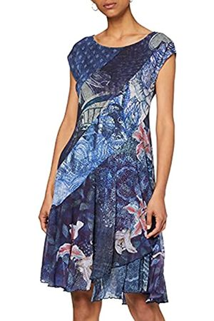 Desigual Damen Dress Short Sleeve Osages Woman Blue Kleid