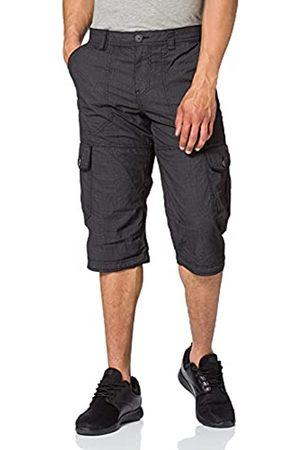 TOM TAILOR Herren 1026235 Max Overknee Cargo Bermuda Shorts, 27217-Black Bean Design