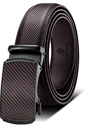 """DOOPAI Verstellbarer Gürtel mit Ratsche und Schiebeschnalle – leicht zuschneidbar für exakte Passform - - Taille 42/50"""""""