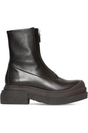 STUART WEITZMAN 60mm Charli Zip Sportlift Leather Boots