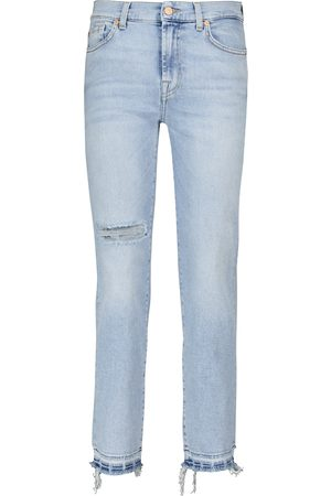 7 for all Mankind Mid-Rise Jeans The Straight Crop