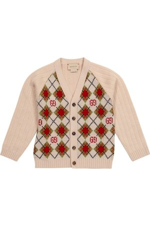 Gucci Baby Cardigan GG aus Wolle