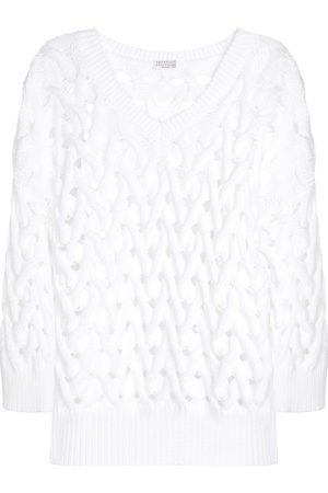 Brunello Cucinelli Damen Strickpullover - Exklusiv bei Mytheresa – Pullover aus einem Baumwollgemisch