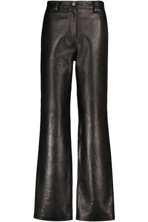 MAGDA BUTRYM High-Rise-Schlaghose aus Leder