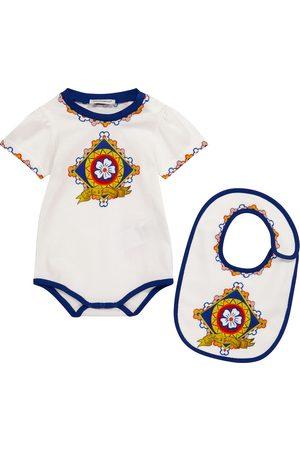 Dolce & Gabbana Baby Set aus Strampler und Lätzchen
