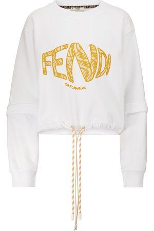Fendi Sweatshirt aus Baumwolle mit Logo