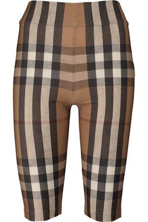 Burberry Karierte Biker-Shorts