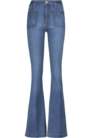 Frame Damen High Waisted - Distressed Jeans Le High Flare