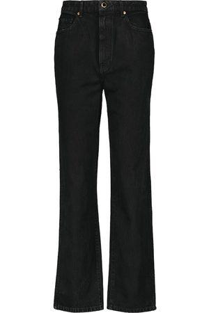 Khaite High-Rise Straight Jeans Abigail
