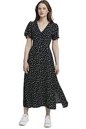 TOM TAILOR Damen Bedruckte Kleider - Damen 1025705 Print Kleid, 26825-Black Minimal Flower