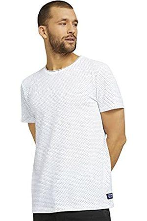 TOM TAILOR Herren 1024872 Jaquard T-Shirt, 26602-White Navy Jacquard
