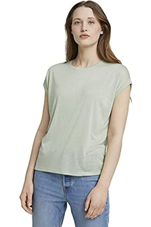 TOM TAILOR Damen 1025671 Relaxed T-Shirt, 26677-Light Dusty Green
