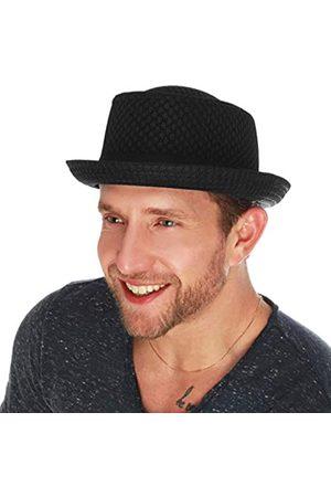 The Hat Depot Unisex Pork Pie Hut mit weichem Netzstoff - - S/M