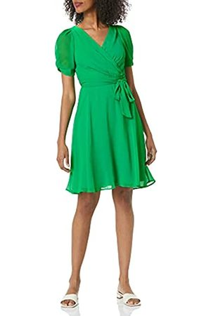 DKNY Women's Knot Sleeve Fit and Flare Dress