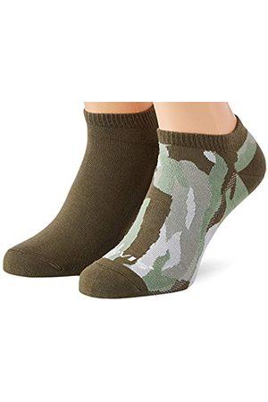 Levi's Unisex-Adult Camo Low Cut (2 Pack) Socks, medium Green/Dark Shadow