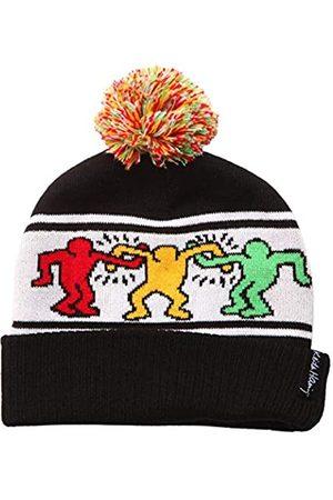 Ripple Junction Herren Hüte - Keith Haring Pop-Art Tanzfiguren Erwachsene Winter Beanie Pom Hat –