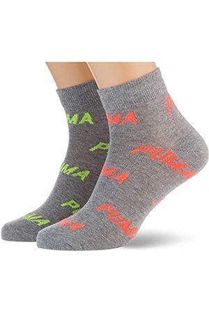 PUMA Unisex-Adult BWT Quarter (2 Pack) Socks