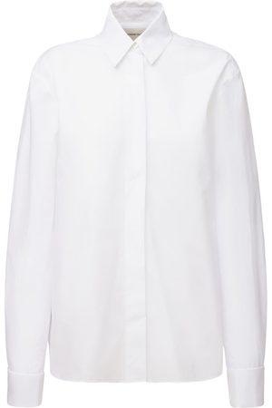 ALEXANDRE VAUTHIER Damen Blusen - Hemd Aus Baumwollpopeline Mit Smokingkragen